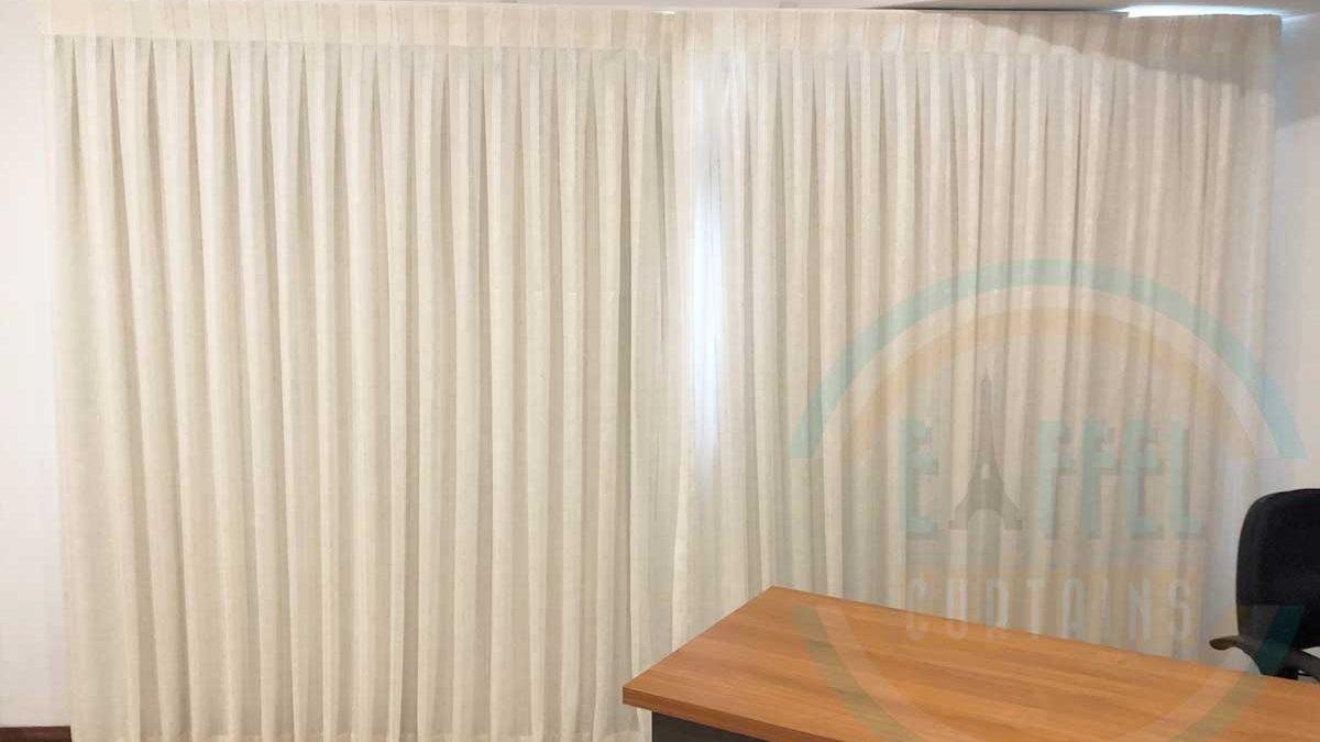 Inverted-Pleat Sheer with Gummerson/Brampton/Linen Applecross
