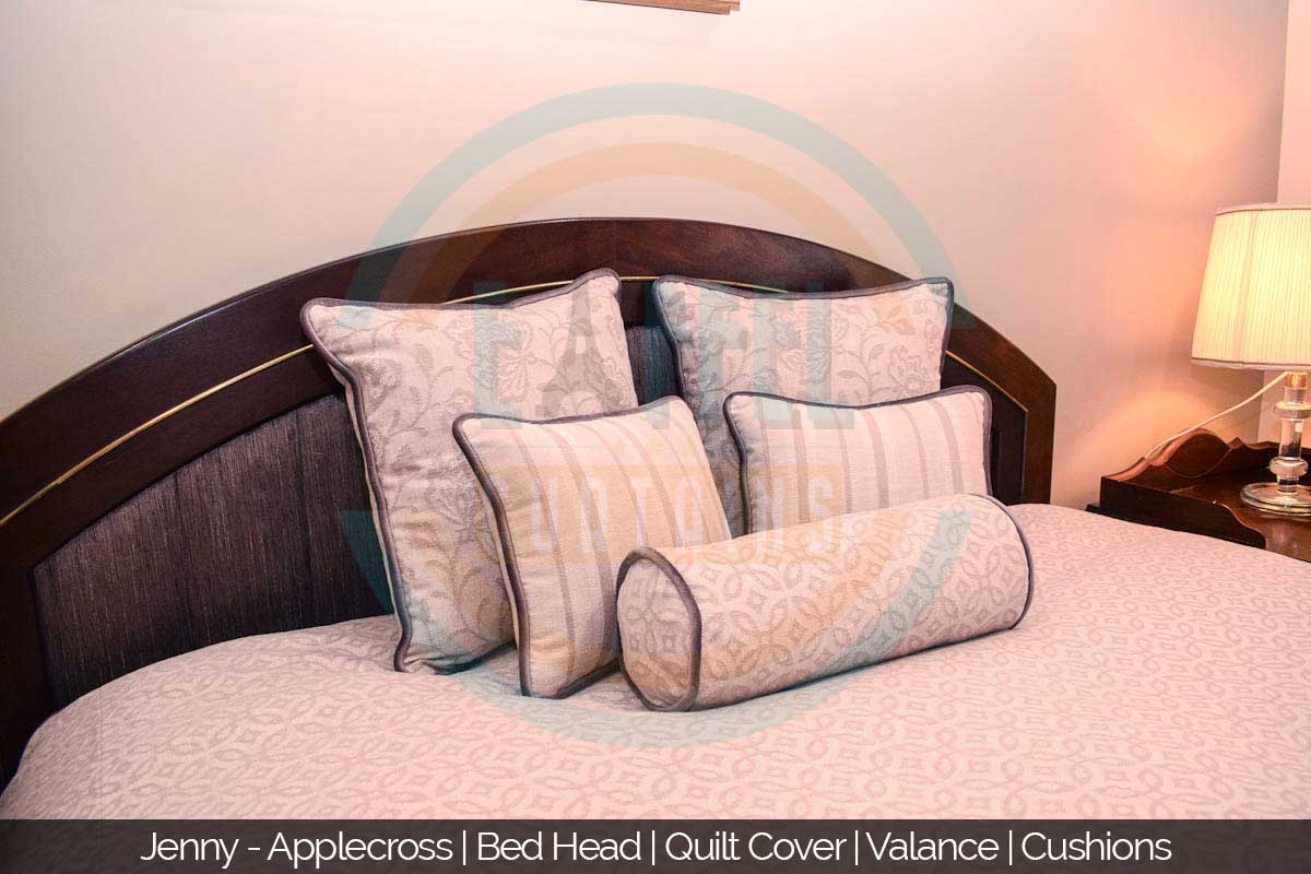 Bed Head / Quilt Cover / Valance / Cushions in Applecross