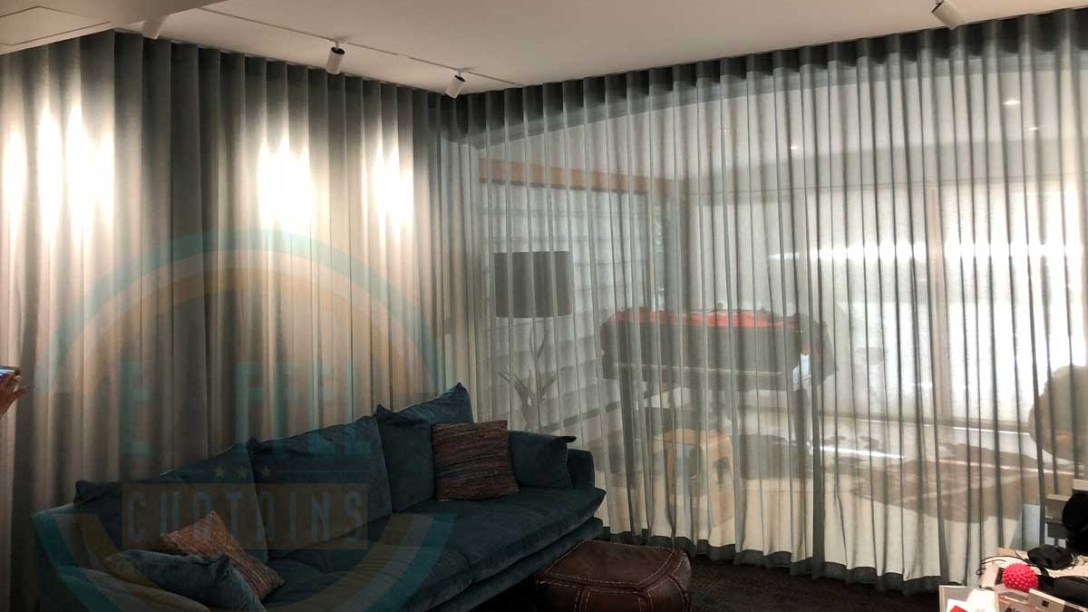 S-Wave U-Pleat Sheer Curtains with JW/Arzu/Corfu in Claremont