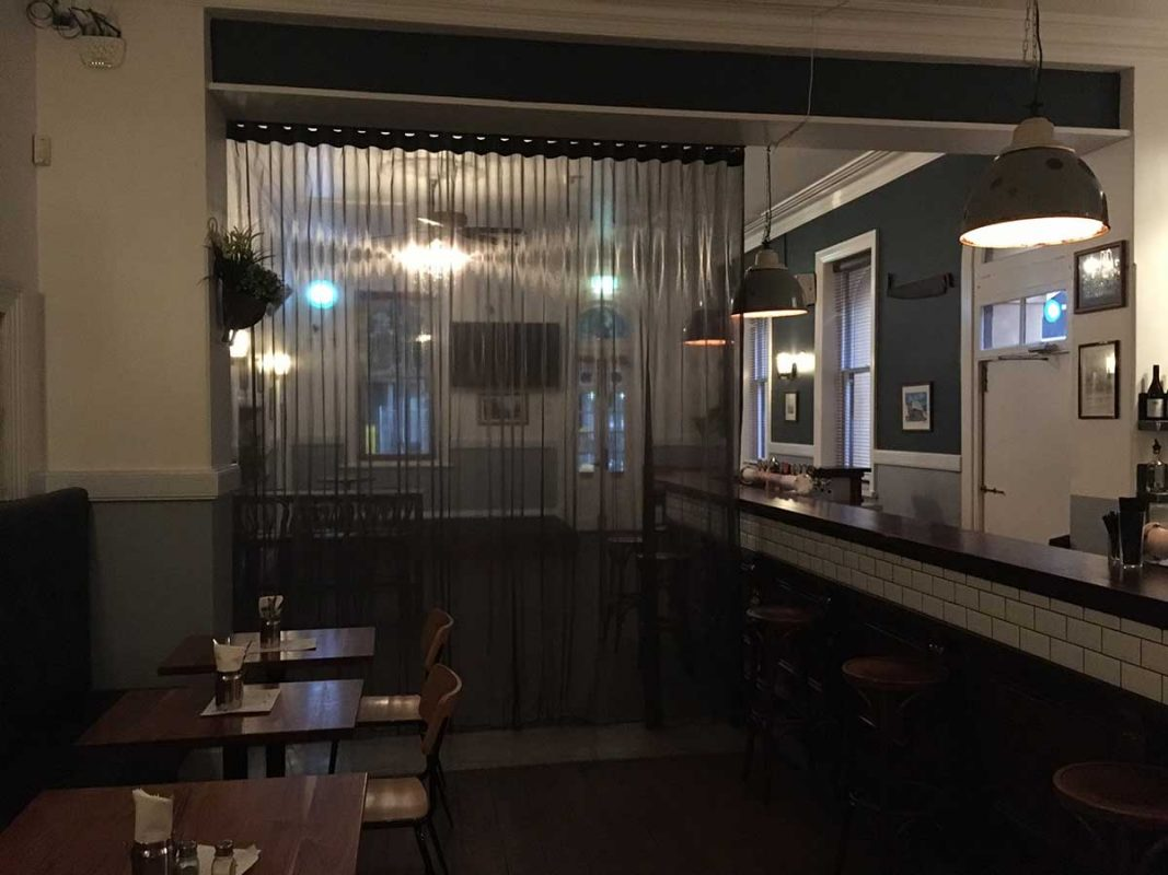 S-Wave / U-Pleat Sheer for Bar Area of Federal Hotel in Fremantle