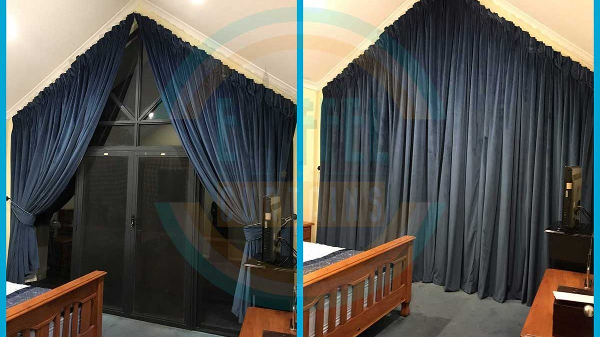 Triangle Window Blockout Curtains Perth